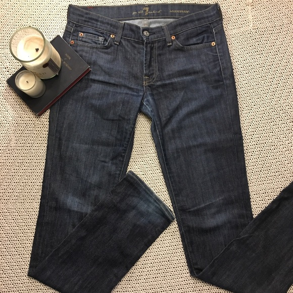 7 For All Mankind Denim - 7 For All Mankind Jeans Straight Cut Size 28